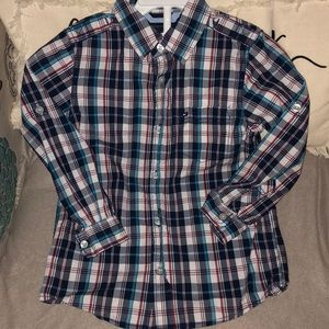 Tommy Hilfiger Boys Button-down Plaid shirt